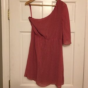 Jessica Simpson multi pink off the shoulder dress